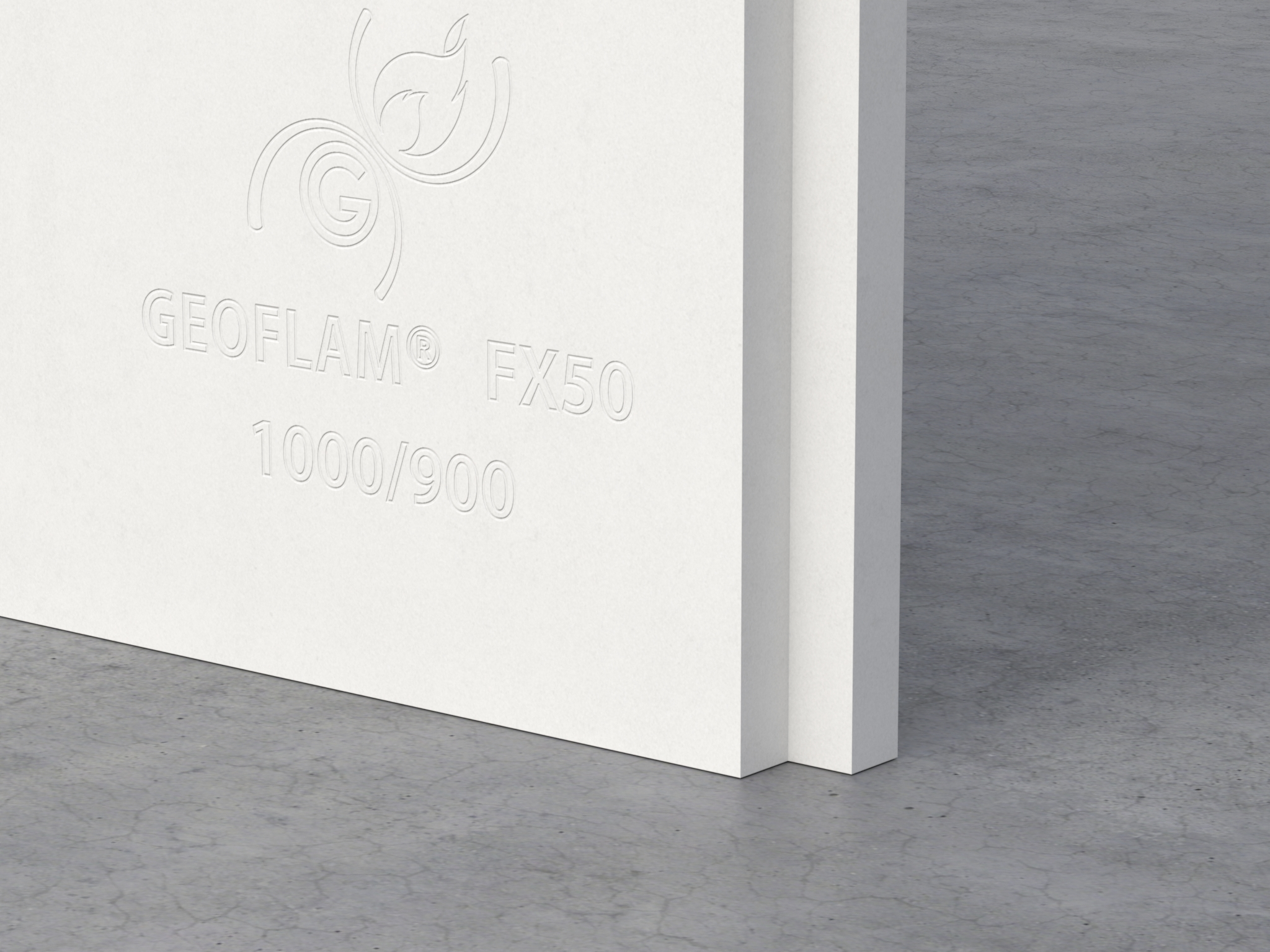 Gypsum and fibreglass fire protective board for passive fire protection